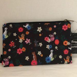 Disney Cats Floral Makeup Bag